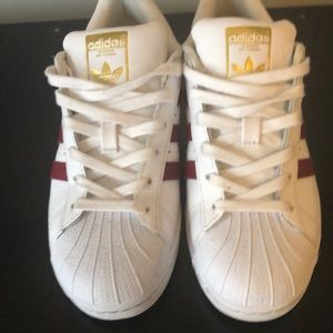 White and red Adidas